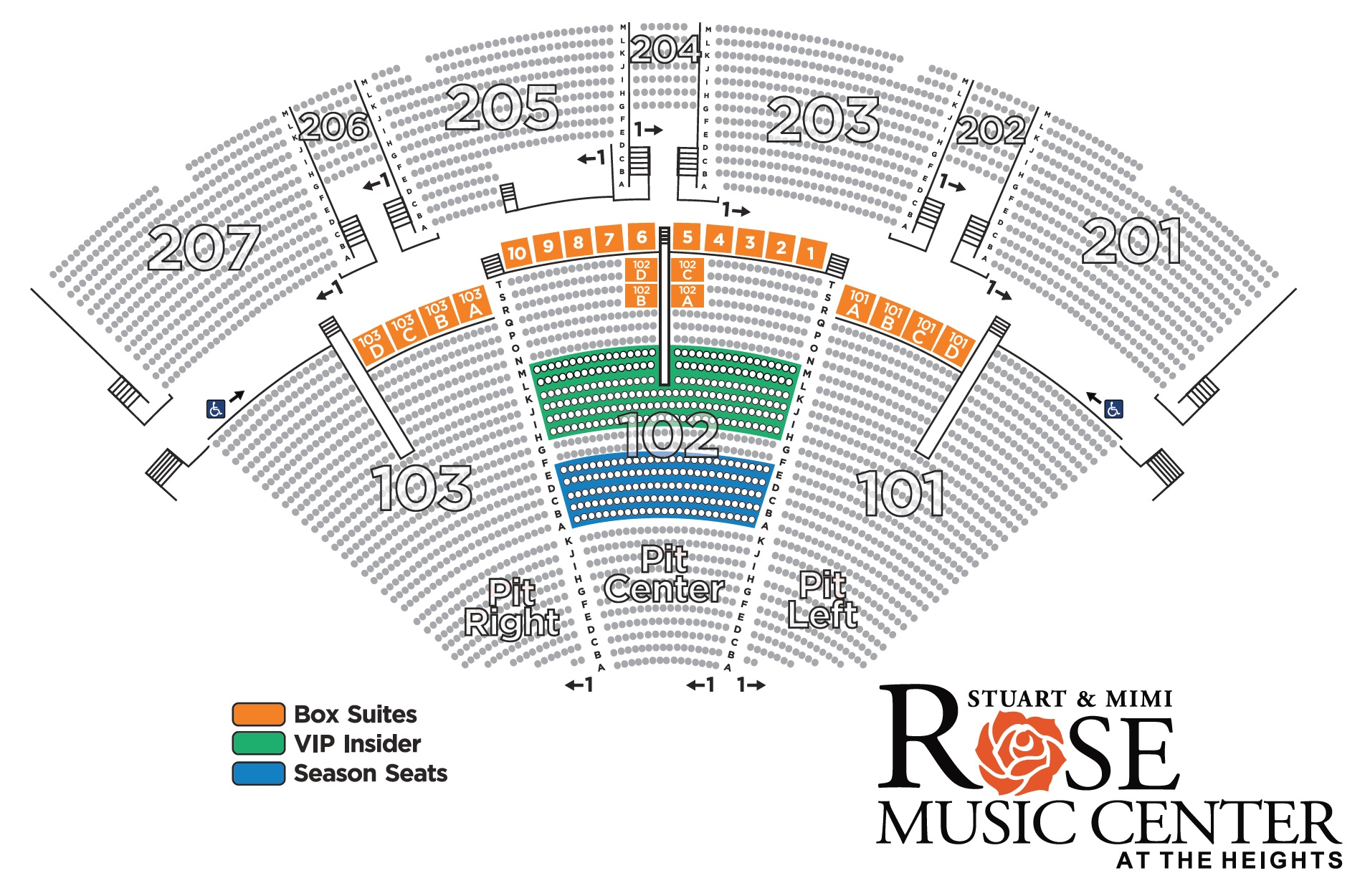 ROSE VIPSEATINGMAP 2019